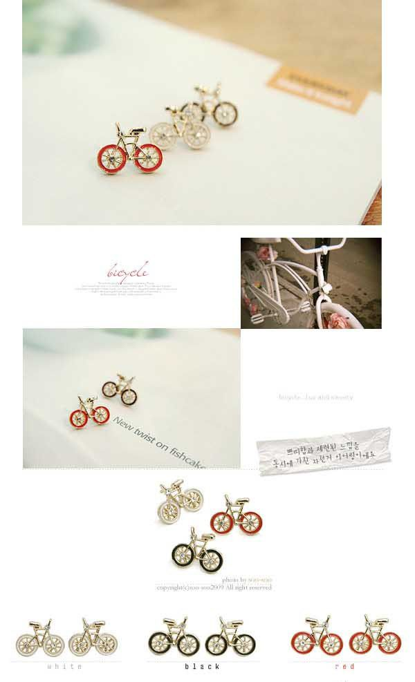 Bicycle Shape Design Ear Pin