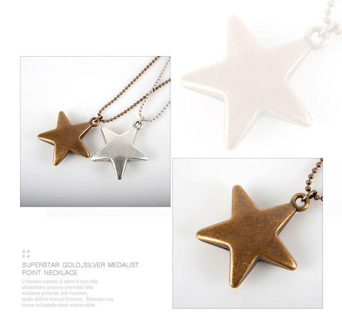 Bronze Star Pendant Necklace