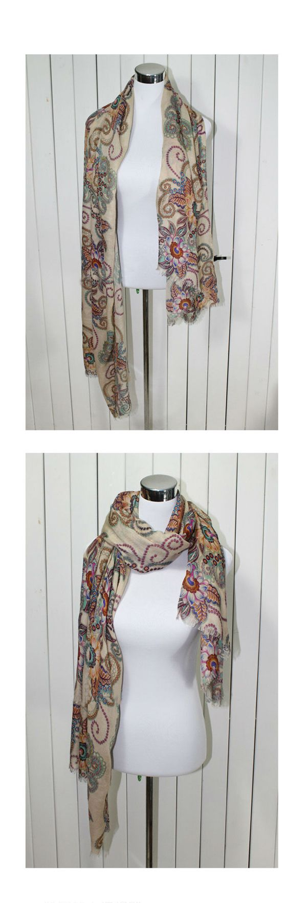 Retro Style Beautiful Totems Long Scarf For Women