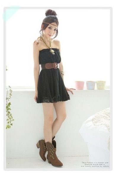 Strapless Mini Lace Tube Dress
