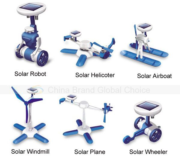 New 6 in 1 Educational Solar Kits Toy 6 Different Models