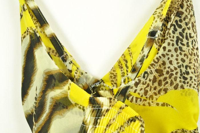 Leopard Spaghetti Strap Summer Maxi Dress