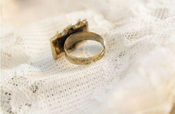 Camera Shape Embellished Ring