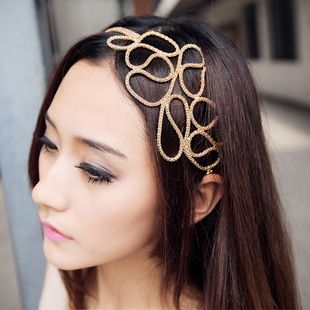Europe Style and Elegant Openwork Braided Flower Shape Hair Band For Women