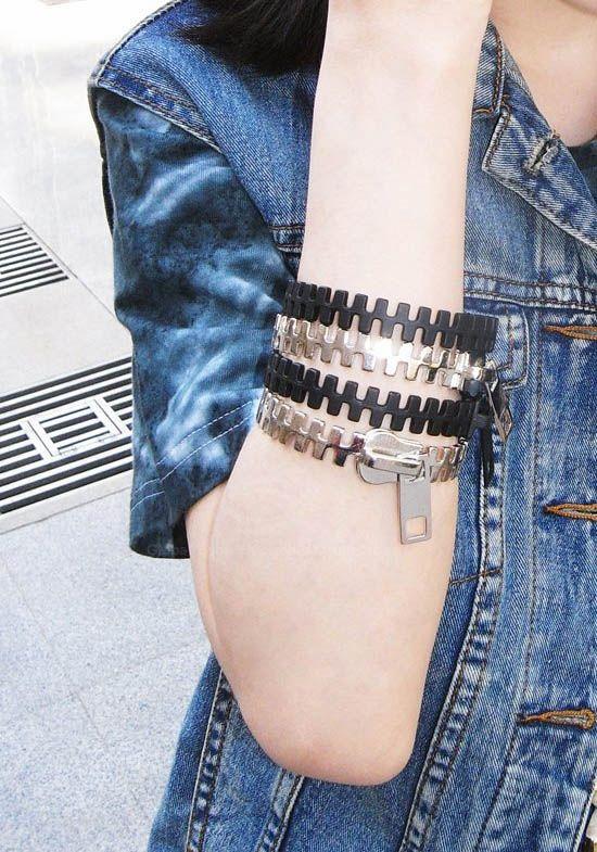 Punk Style Zipper Shape Bracelet