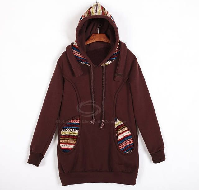 Korean Thicken Solid Color Thicken Hooded Long Sleeves Women's Hoody