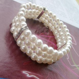 Faux Pearl Three-layered Design Bracelet