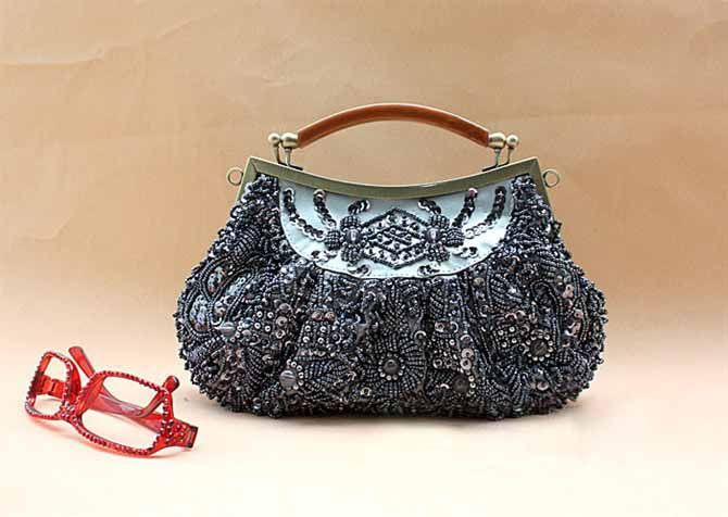 Party Elegant Beaded and Sequins Design Women's Evening Bag