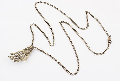 Punk Claw Pendant Sweater Chain Necklace