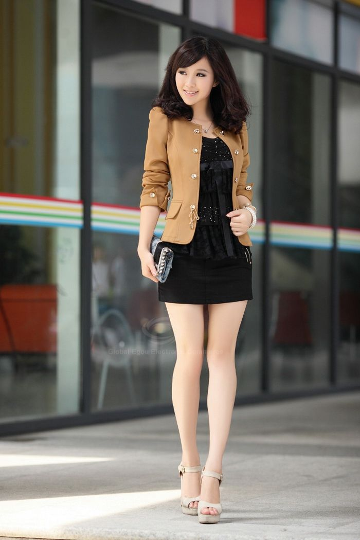 Solid Color Bowknot Embellished Short Blazers
