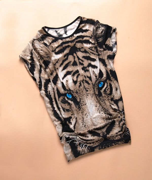 Stylish Style Tiger Print Women's T-Shirt
