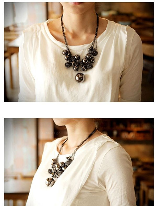 Ball Shape Beads Pendant Necklace