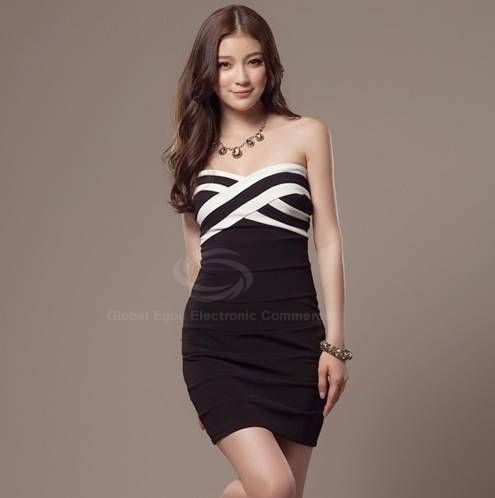 Cross Wrap Chest Bodycon Tube Bandage Dress