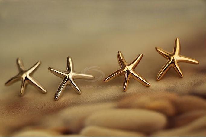 Pair of Starfish Shape Women's Earrings