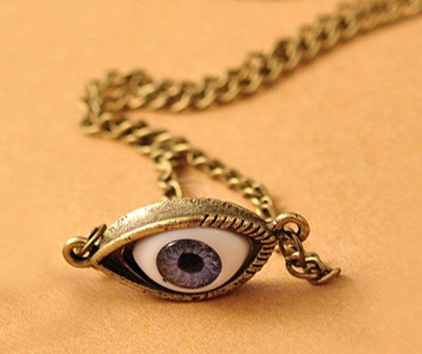 Punk Eye-Shaped Pendant Women/Men's Necklace