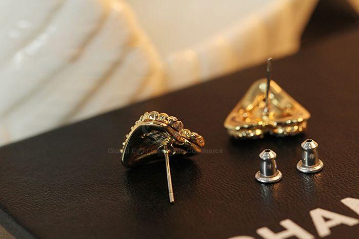 Pair of Sweet Rhinestone Embellished Heart Shape Earrings For Women