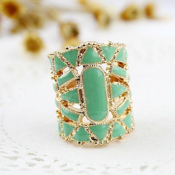 Fake Gemstone Embellished Finger Ring