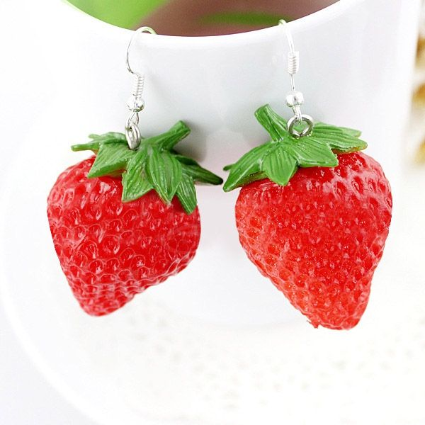Pair of Ethnic Strawberry Shape Earrings