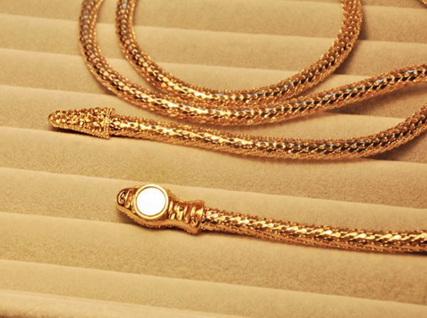 Chic Style Embellished Smooth Snake Shape Necklace For Women