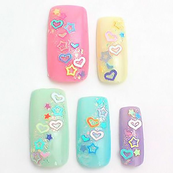 Beautiful Heart & Flower & Moon Shape Nail Beautify Paster for Manicure Uses (12 Boxes)