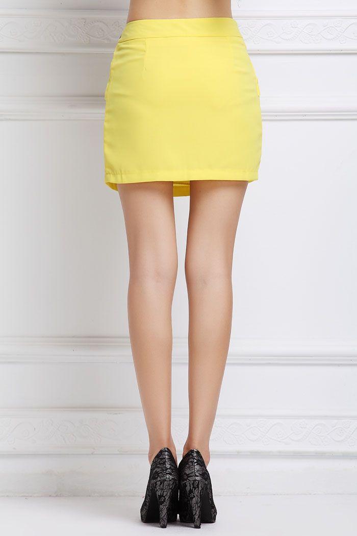 Ruffle Belt Insert Mini Fitted Skirt