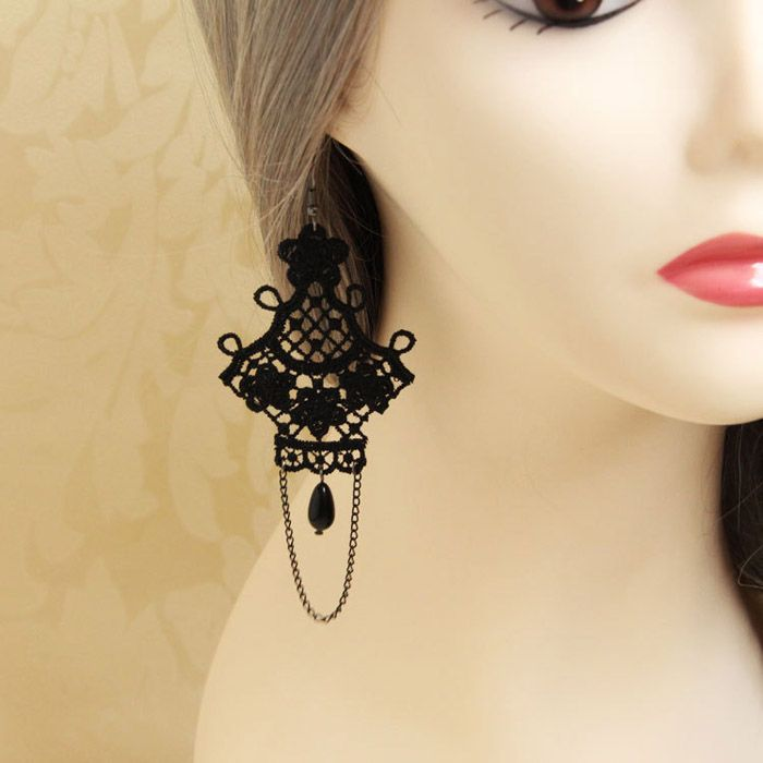 Pair of Retro Flower Bead Tassel Openwork Design Earrings For Women