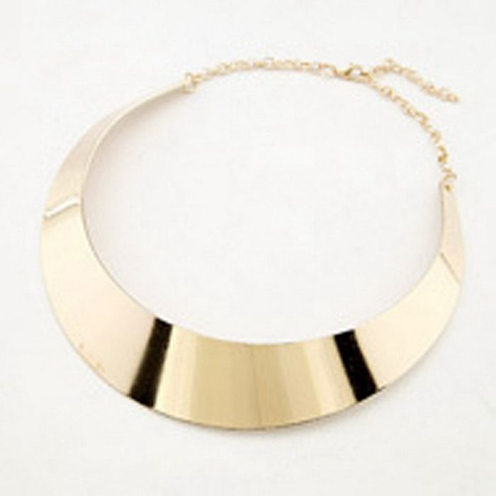 Punk Simple Ringlike Pendant Alloy Necklace For Women