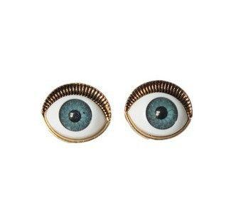 Pair of Fashion Simple Eye Shaped Earrings For Women