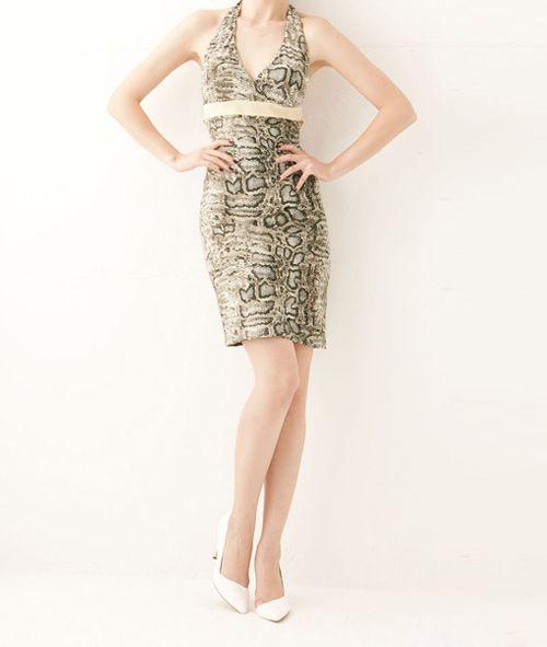 Sexy Halter Open Back Sleeveless Polyester Women's Dress