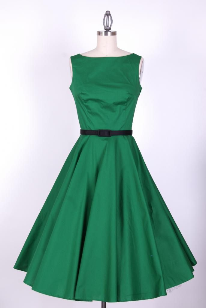Vintage Scoop Neck Pleated Sleeveless Swing Dress For Women