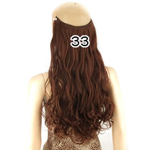 Fashion Fluffy Long Wavy Clip-In High Temperature Fiber Hair Extension For Women