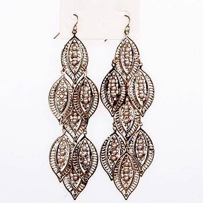 Pair of Stylish Faux Pearl Embedded Earrings For Women