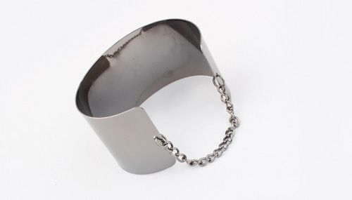 Punk Smooth Metal Opening Bracelet