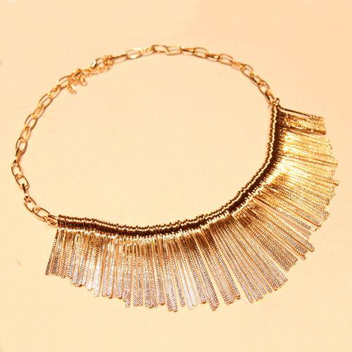 Tassel Pendant Alloy Necklace