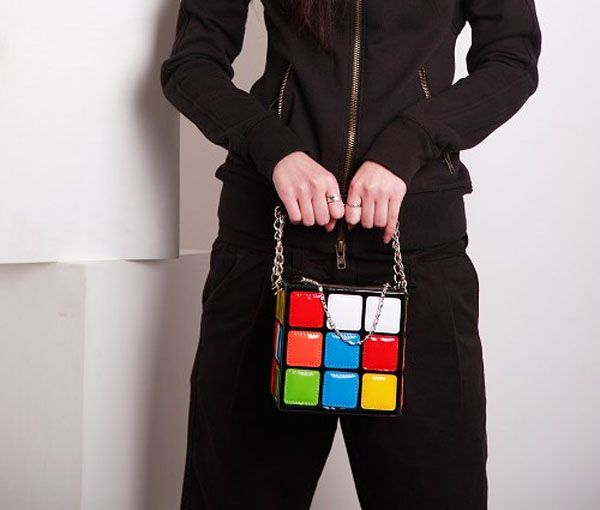 Stylish Color Block and Chains Design Women's Tote Bag