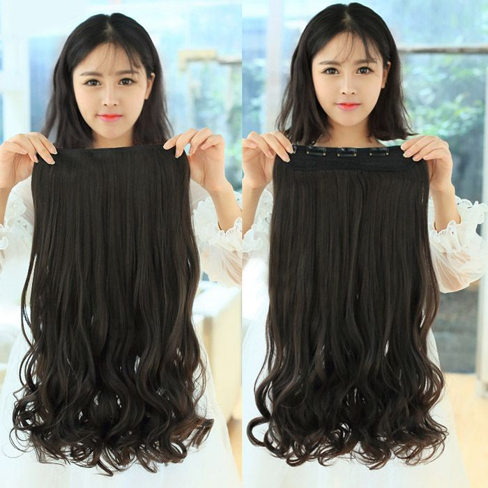 Casual Style Long Wavy High Temperature Fiber Women's Clip-In Hair Extension
