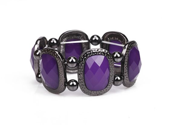 Gemstone Decorated Elastic Bracelet