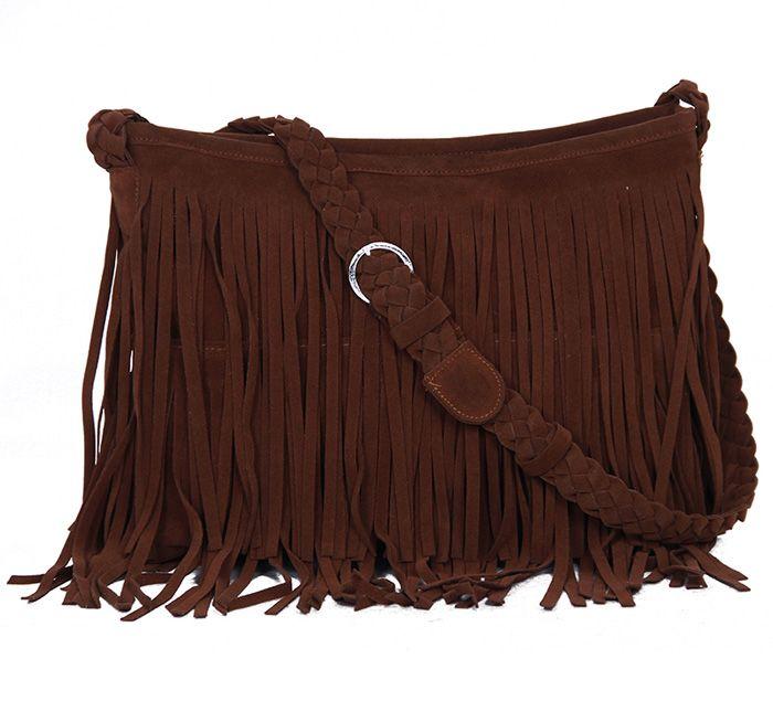 Fashion Fringe and Weaving Design Women's Crossbody Bag