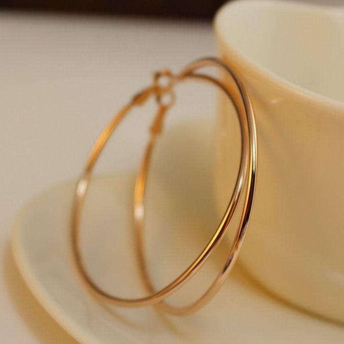 Pair of Alloy Hoop Earrings