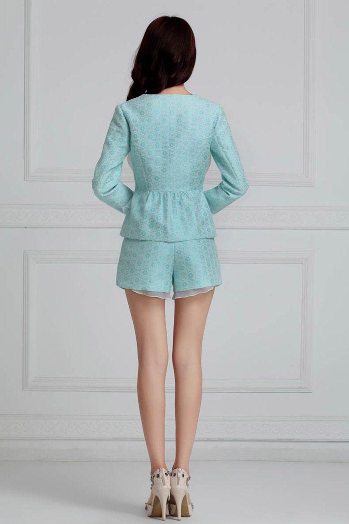Elegant Scoop Neck Mesh Splicing Polyester Women's Jacket