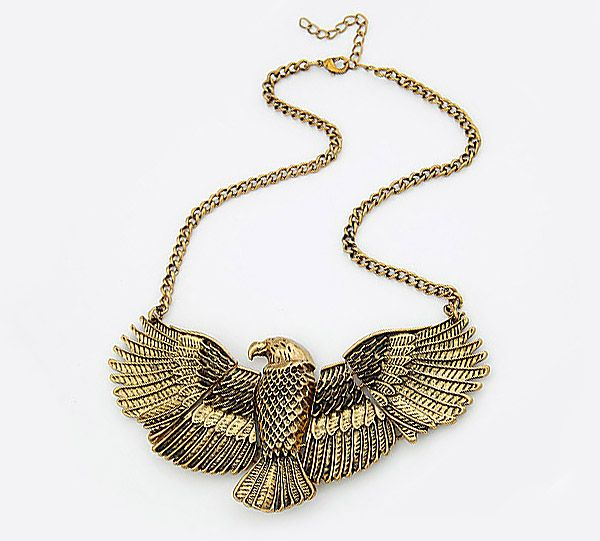 Vintage Eagle Shape Alloy Pendant Necklace