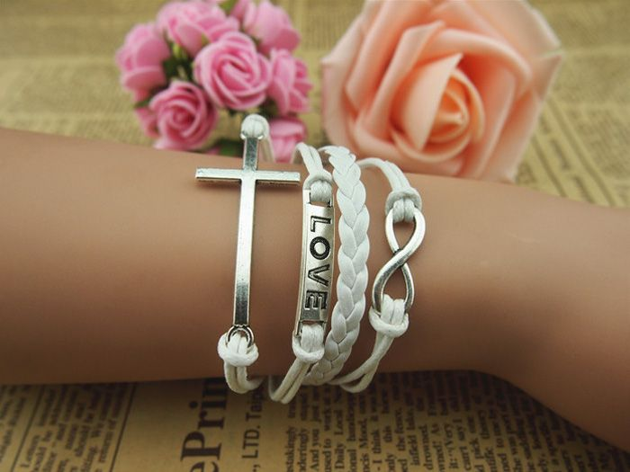 Cross Infinity Multilayered Bracelet