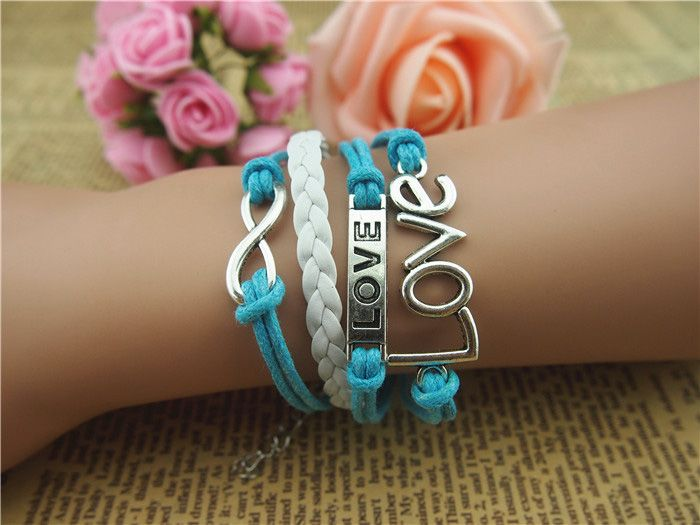 Infinity Letter Love Multilayered Bracelet