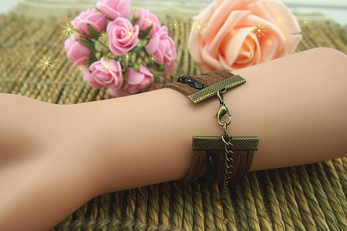 Cross Anchor Love Multilayered Bracelet