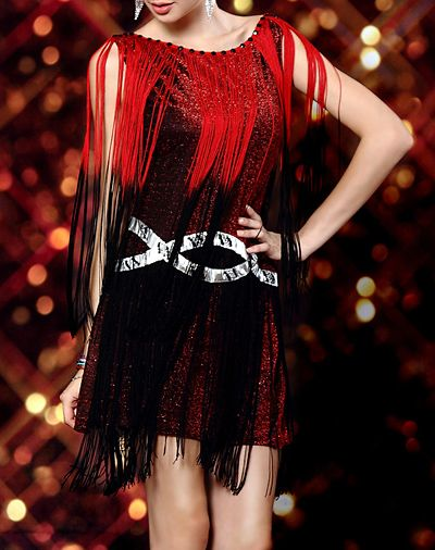 Сексуальное с кисточками с заклепками платье 82815. Просмотр. популярное л