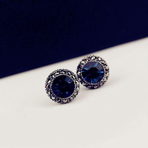 Fake Sapphire Stud Earrings