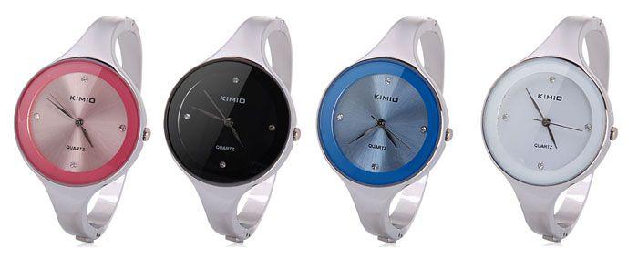 Waterproof Luxury Quartz Bracelet Watch with Analog Indicate Steel Watchband for Women