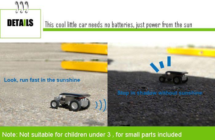 World's Smallest Solar Powered Mini Car Coin Size