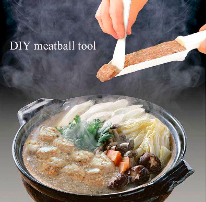 Durable Plastic Meat Paste Food Shovel Meatball Machine