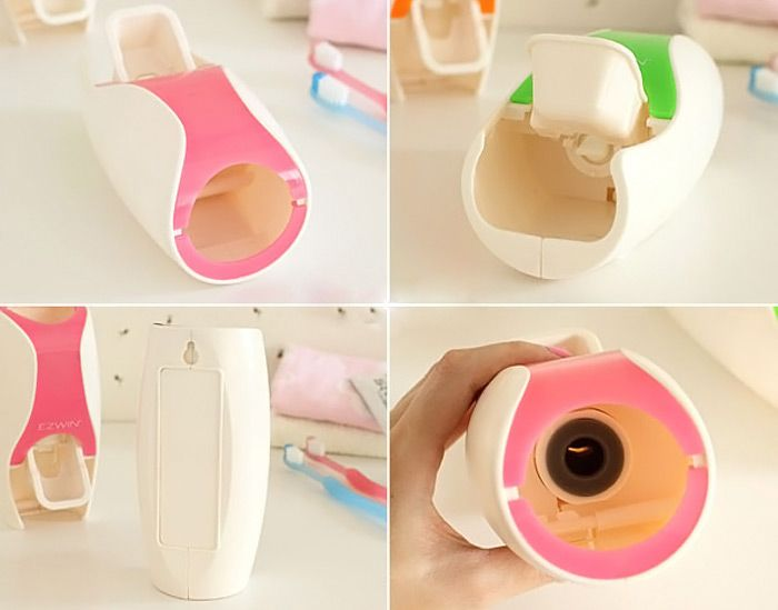 EZ BR01 Automatic Toothpaste Dispenser Squeezer Toothbrush Holder Set Bathroom Household Gadgets